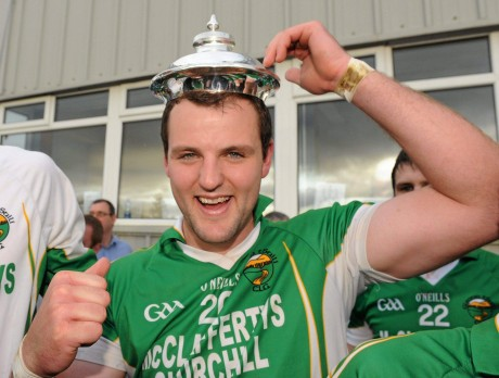 Michael Murphy celebrates after firing Glenswilly to the title in 2011.