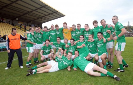 Naomh Muire celebrate after winning the Intermediate Senior Final.Photo: Donna McBride