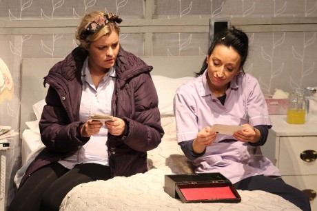 Tara Lynne O'Neil and Katie Tumelty star in Fly Me To The Moon.