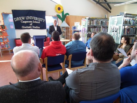 John O'Connell of the Atlantic Apartotel addresses the crowd at the announcement of the conference for Bundoran