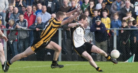 Matthew Byrne in action against St Eunan's.