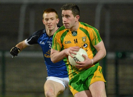 Patrick McBrearty, in action here in the 2013 Ulster Under 21 final, is underage again for the 2014 campaign.