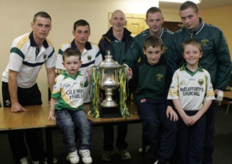 The McGinley family with the Dr Maguire in 2011.