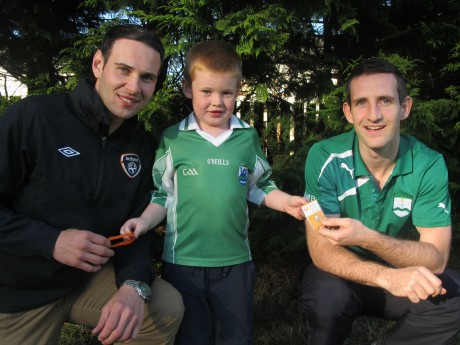 Conor McEntee (6) of Middletown, Derrybeg with Christopher Sweeney and Dan McBride.
