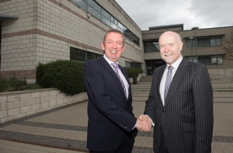 New Chairman, Fintan Moloney (right) with LYIT President, Paul Hannigan.  Photo: Clive Wasson