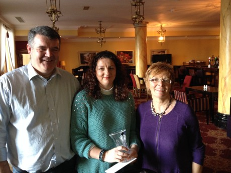 Gina Grant from Letterkenny (centre), the Donegal 2013 Carer of the Year.