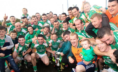 Celebration time for the Glenswilly team after defeating Killybegs.