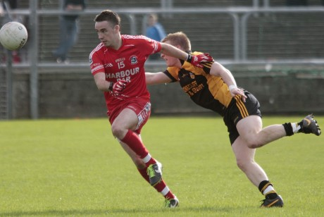 Killybegs Brendan McGuire keeps a close eye on the ball.