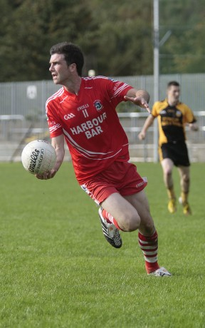 Killybegs captain Benny Boyle in possession.