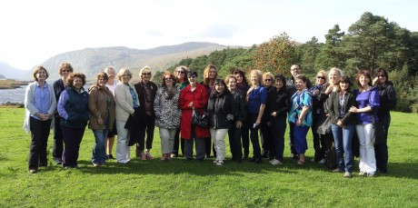 American travel agents in Glenveagh National Park with Sinéad Murray, Tourism Ireland (left) and Benjamin Orona, American Airlines (seventh right.
