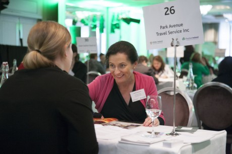 Deirdre McGlone, Harvey's Point Country Hotel, Lough Eske, is pictured at the recent Fáilte Ireland North American Expo workshop which was held at Carton House Hotel, Co Kildare.  Photo: Derek Cullen, Fáilte Ireland