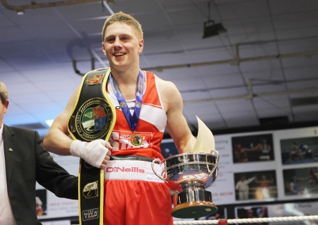 Finn Valley boxer Jason Quigley after winning the Middleweight Elite final in 2013