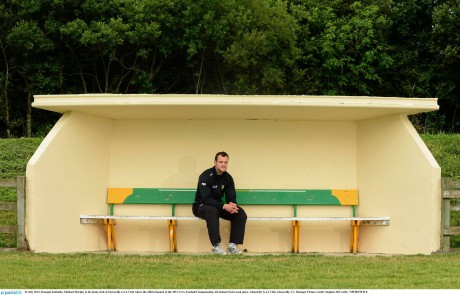 Michael Murphy in the dugout at Pairc Naomh Columba, Glenswilly.