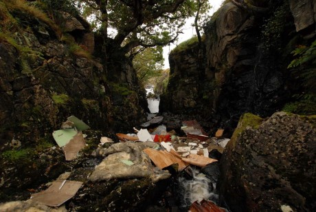 Illegal dumping within Glenveagh National Park.