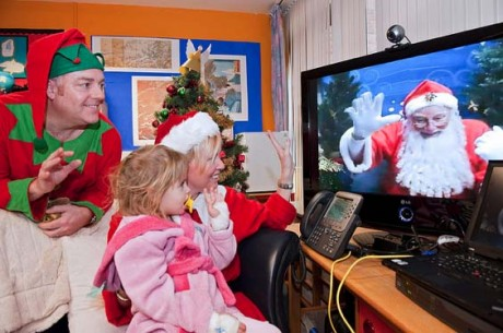 There will be a video link to Santa at the Dungloe Christmas village.