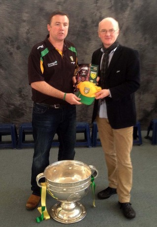 Cieran Kelly pictured with the Irish Ambassador to Australia at Gaelic Park Melbourne during Sam's world tour.