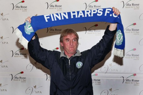 Ollie Horgan pictured at his unveiling as Finn Harps manager. Photo: Gary Foy