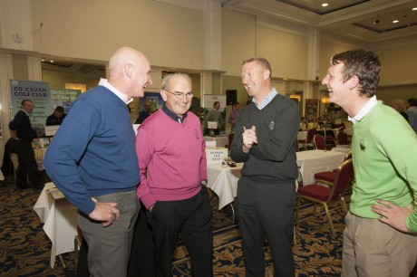Pictured at the Fáilte Ireland golf event were (l. to r.): Eamon Mangan, Carne Golf Links, Mayo; John Farren, Ballyliffin Golf Club, Donegal; John McLaughlin, North & West Coast Links Golf, Galway and Gareth McCausland, Ballyliffin Golf Club. Photo: Derek Cullen, Fáilte Ireland