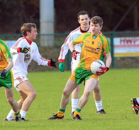 Donegal's Christian Bonner in action in Thursday's semi-final. Photo: Donna McBride