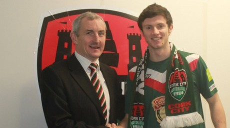 Cork City manager John Caulfield with Johnny Dunleavy.