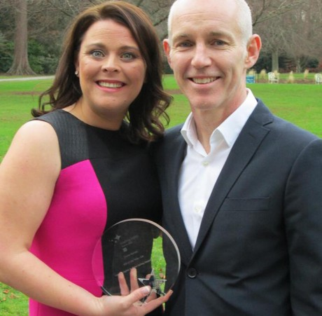 Diane Harvey with Today FM's Ray D'Arcy at the awards yesterday.