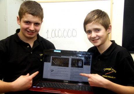 Donegal Pens brothers Ronan and Conor Mc Garvey celebrating 1,000,000 page views on their website www.donegalpens.com