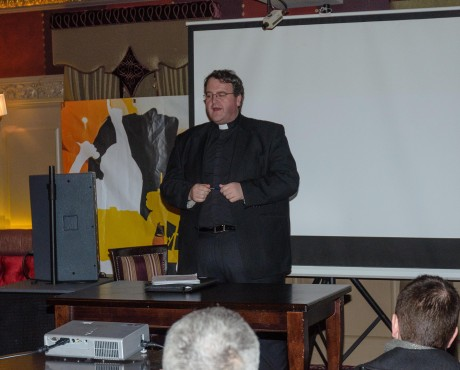 Fr John Joe Duffy speaking at the meeting.