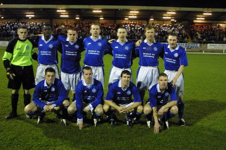 The Finn Harps team before the second leg against Derry City