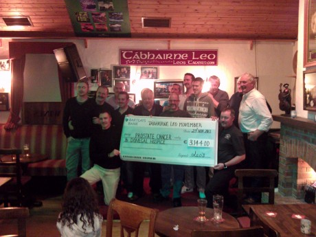 Members of the MoLeo's group who raised over €3,000 during Movember.