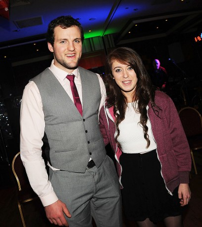 Laura Brown, MacCumhaills, pictured with Donegal Footballer of the Year, Michael Murphy, at the GAA Awards night in the Abbey Hotel.