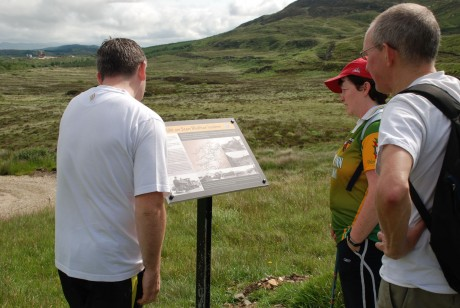 One of the signs that was erected at the new section of the Muckish Walkway.