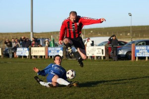 Paddy McGrenaghan in action for Fanad United.