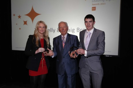 Toni Kelly, Craig Breen and Gay Byrne