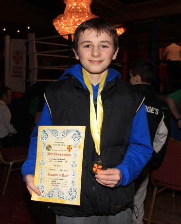 Kevin McMonagle, Dungloe Boxing Club, winner of Boys 1999 46kg.