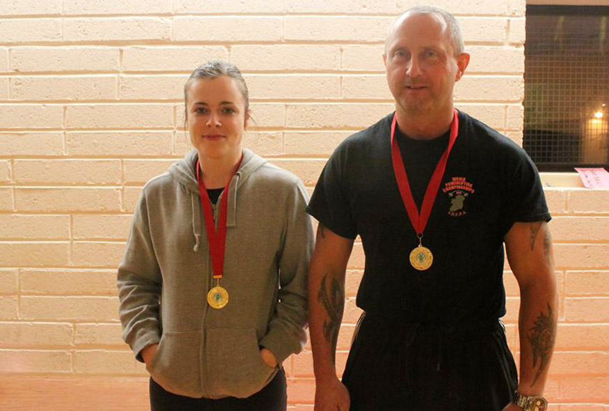 Maighread Grace Curran with her coach Sammy Wasson.