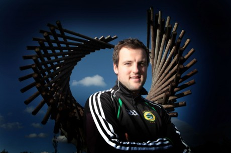 Michael Murphy pictured at the Polestar sculpture in Letterkenny earlier this year. Picture: Declan Doherty