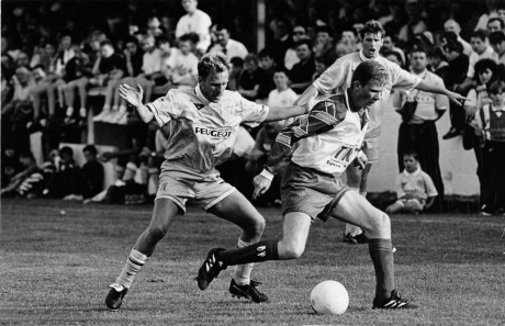 Paddy McGrenaghan in action for Finn Harps against Conventry City during the friendly in 1995.