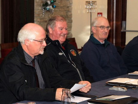 Ulster Senior League Executive members Johnny McCafferty, Dessie Kelly and Jim McConnell