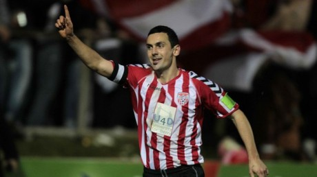 Mark Farren after scoring a goal for Derry City.