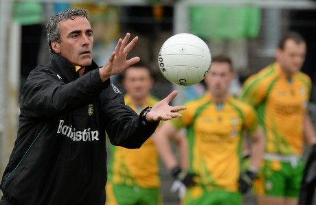 Eyes on the ball: Jim McGuinness and Donegal return to action on Sunday.