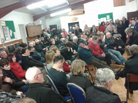 The large attendance at the meeting on Arranmore.