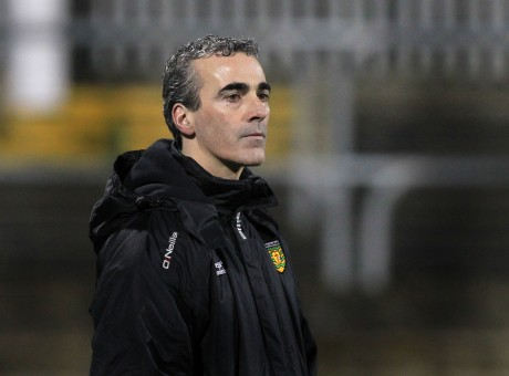 Jim McGuinness, Donegal manager, assesses his troops during Wednesday's game.
