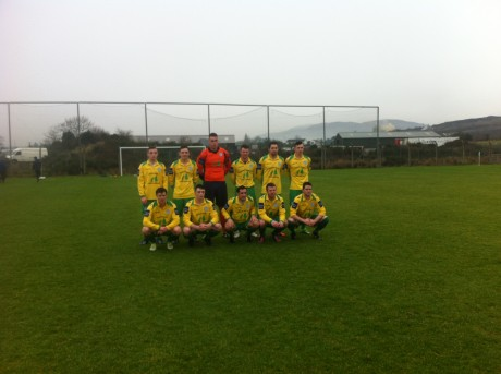 Ollie Horgan's first Finn Harps team - pictured before the friendly against Cockhill Celtic.