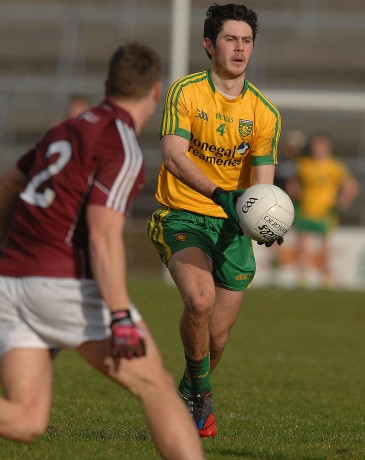 Ryan Mc Hugh, in action in Salthill, in the league game with Galway,
