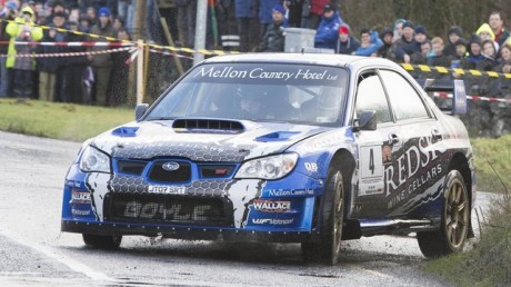 Declan Boyle in action during the Galway Rally.