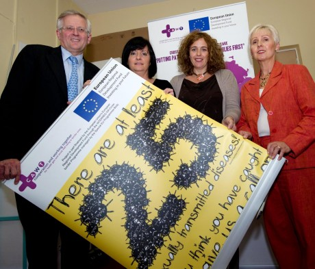 Letterkenny General Hospital sexual health / GUM clinic staff (l to r) Prof Wallace Dinsmore, GUM Consultant and Sonya Keeny, Clinical Nurse Manager. Also pictured are Brigid McGinty, Programme Manager, CAWT and Marian Martin, Project Manager, CAWT cross border sexual health/GUM project.