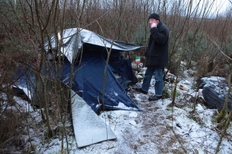 'Paddy' who lives in this tent near the centre of Letterkenny.