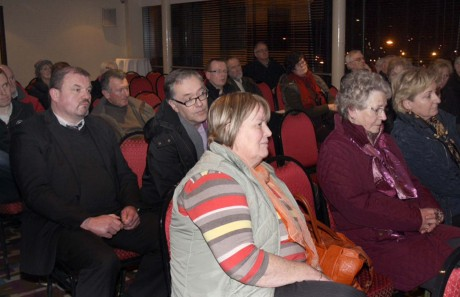 Concerned members of the public at the meeting to save Church Lane.