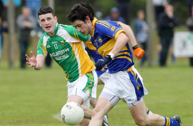 Ryan McHugh, who captained Kilcar to glory.