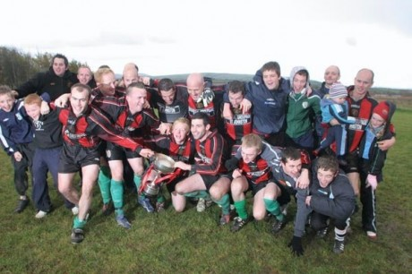 Kildrum Tigers celebrate their last Ulster Senior League title win in 2008.